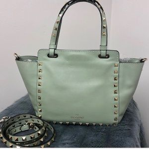 Valentino • Watergreen Vitello Mini Rockstud Bag